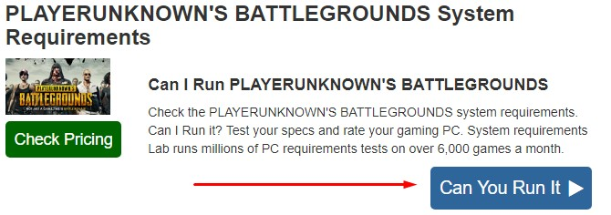 pubg requisitos test