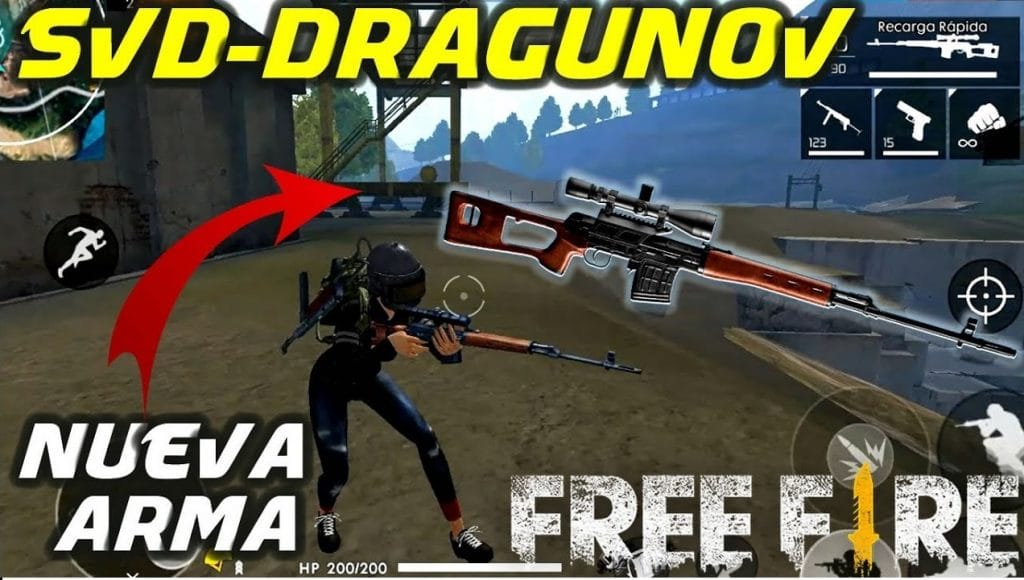 SVD Dragunov free fire