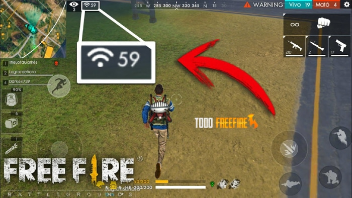 Jugar con mala conexión free fire